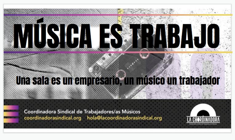 Música es trabajo